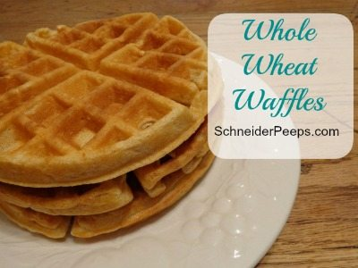 SchneiderPeeps Whole Wheat Waffles