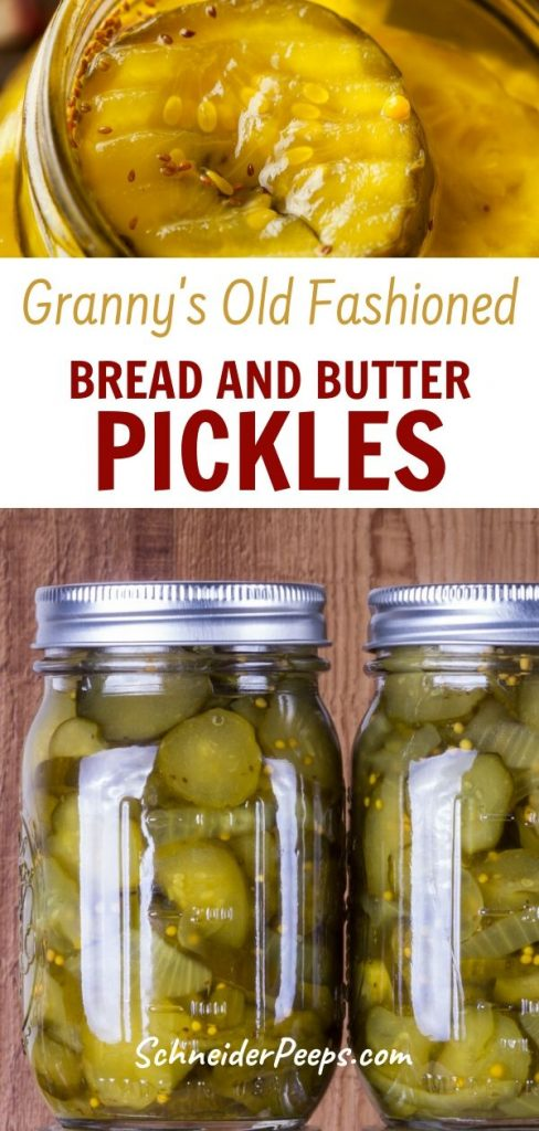 bread and butter pickles in jar