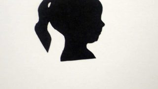 Silhouettes {a tutorial for a fun and inexpensive Christmas gift}