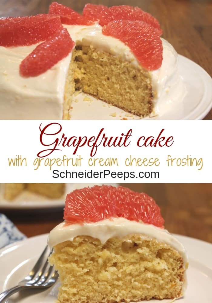 Grapefruit shouldn't be limited to breakfast, it also makes a great dessert. Surprise your family with a light and fresh grapefruit cake in the middle of winter (or any time of the year). #grapefruitcake #citrusrecipes