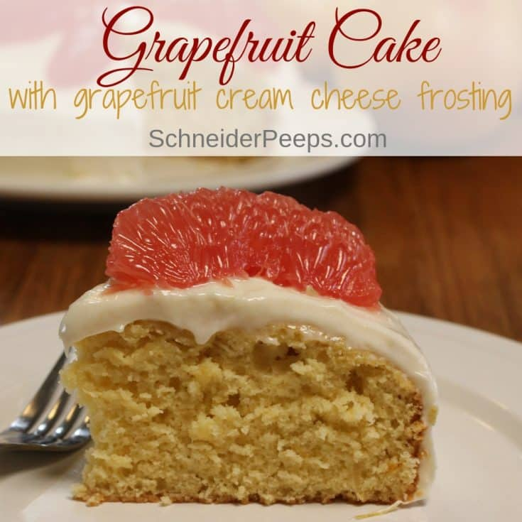 Grapefruit Cream Cheese Frosting