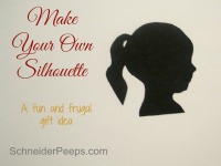 SchneiderPeeps - Make your own silhouette - This is a super fun and frugal gift idea. And will sure to become a family heirloom.