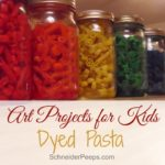 SchneiderPeeps - Art projects for kids should be fun and frugal. Dyed pasta fits the bill nicely. With just three ingredients you can have hours of creative fun.