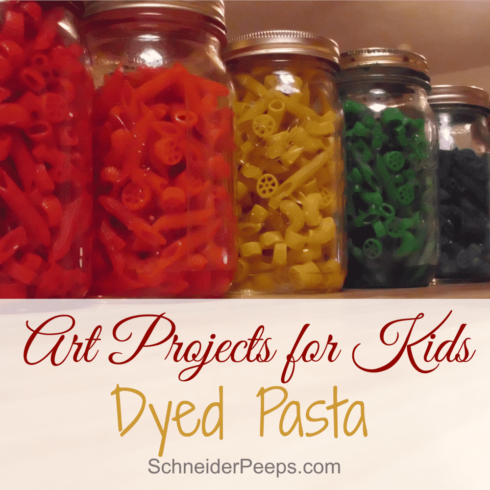 art projects for kids dyed pasta schneiderpeeps. Black Bedroom Furniture Sets. Home Design Ideas