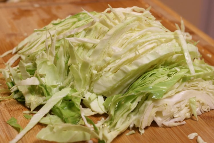 image of cut green cabbage