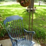 rocking chair with spray paint