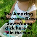 The Amazing Pillowcase Dress Sew~Along {one shoulder tie & empire waist}