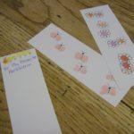 finger print bookmarks