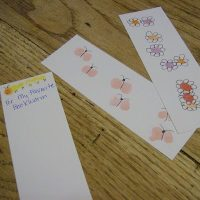 Fingerprint Art Bookmarks