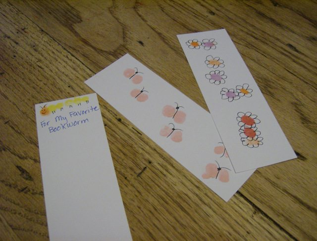 SchneiderPeeps - Fingerprint Art Bookmarks