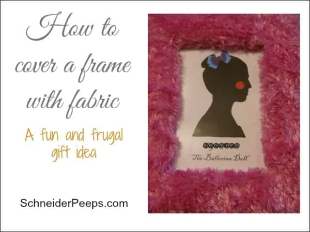 SchneiderPeeps - How to cover a frame with fabric