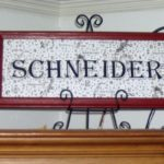 decoupaged last Name sign