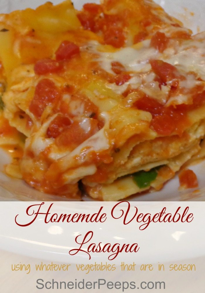 Vegetable lasagna is such a great way to use use all kinds of produce from the garden. Learn how to make an easy dinner with this no-boil recipe.