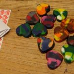 heart rainbow crayons