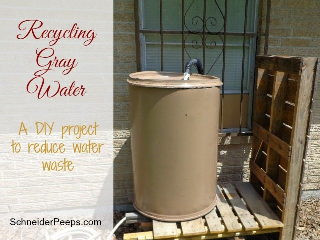 SchneiderPeeps - Recycling Gray Water is a great way to reuse laundry water.  Make this DIY project in just a few hours and for very little cash.