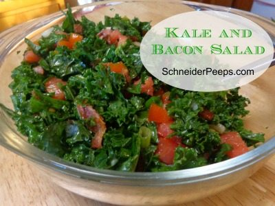 SchneiderPeeps - Kale and Bacon Salad