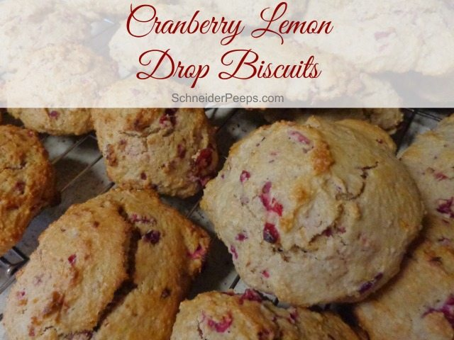 SchneiderPeeps - Cranberry Lemon Drop Biscuits make a great snack. They can be made a head of time and frozen for a quick grab and go treat.