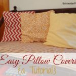 SchneiderPeeps - Easy Pillow Covers Tutorial. The easiest way to update a room is with pillows. Here is a way to just recover the pillows instead of buying new ones.