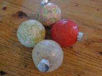 Decoupaged Christmas Ornaments (6)