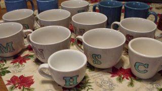 DIY Monogrammed Coffee Mugs