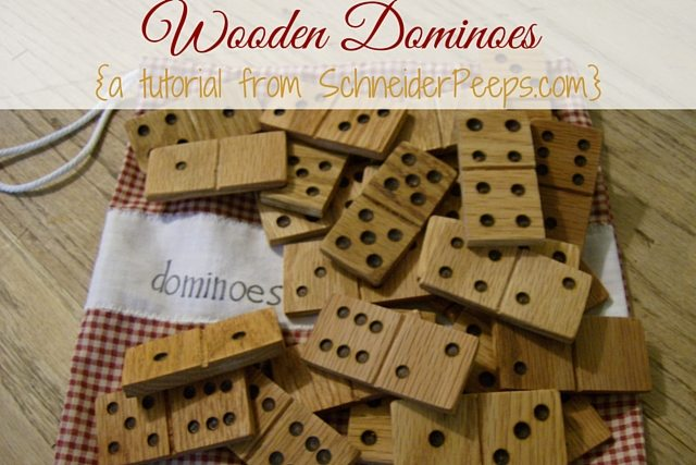 Wooden Dominoes are really easy to make. In fact, our son made these when he was 11. Learn how he did it in this post.