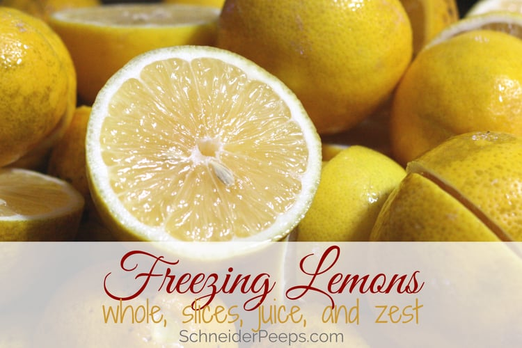 image of bowl of lemons for freezing