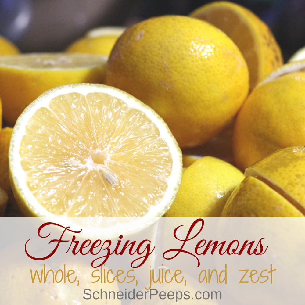 Freezing lemons is the easiet way to preserve lemons for the year. Learn how to freeze lemons whole, slices, juice, and zest and how to use frozen lemons.