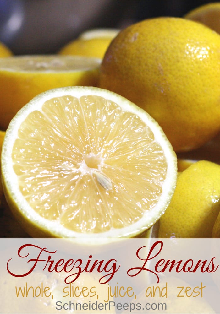 image of sliced lemon for freezing