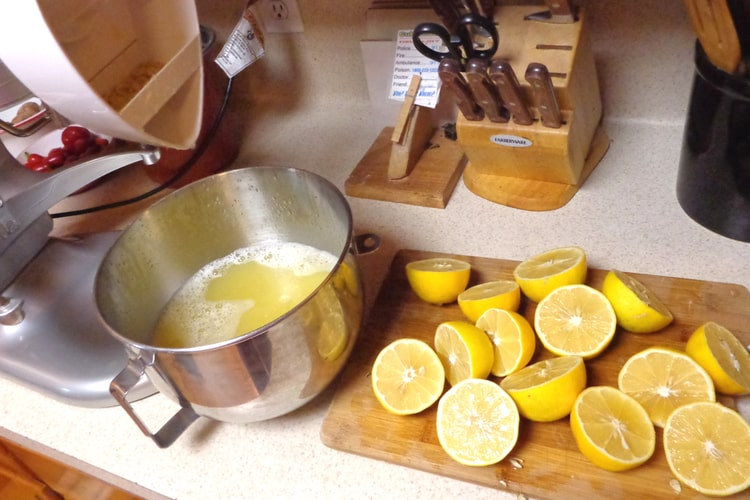 image of freezing lemon juice