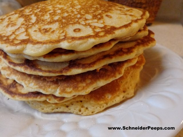 whole wheat pancakes from homemade freezer mix