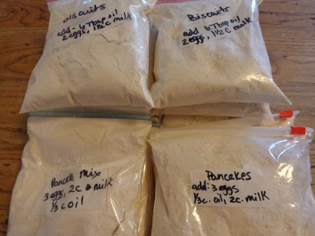 biscuit and pancake mix for freezer