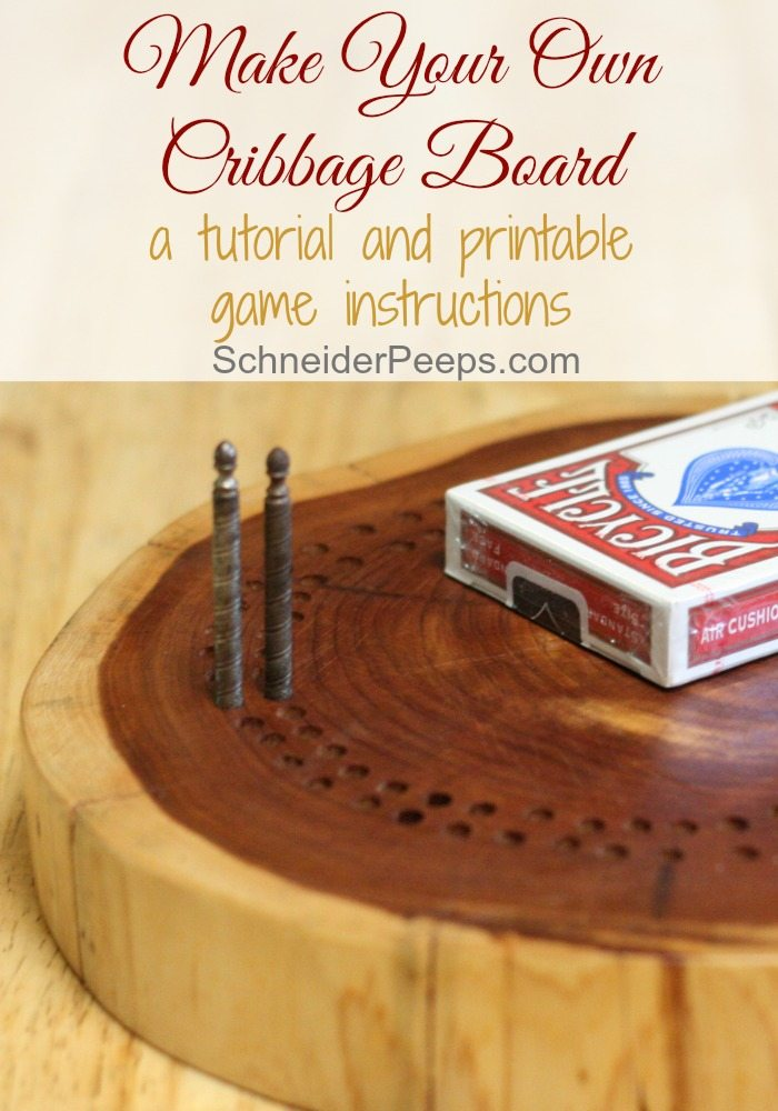 Make Your Own Cribbage Board Schneiderpeeps
