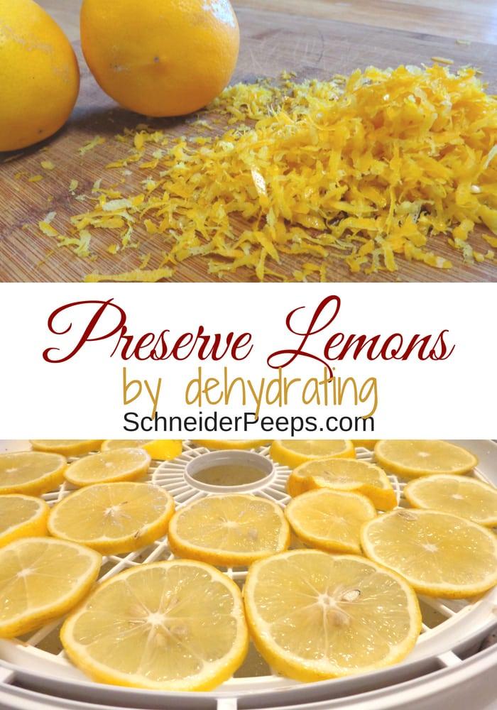 Image of dried lemon slices and lemon zest