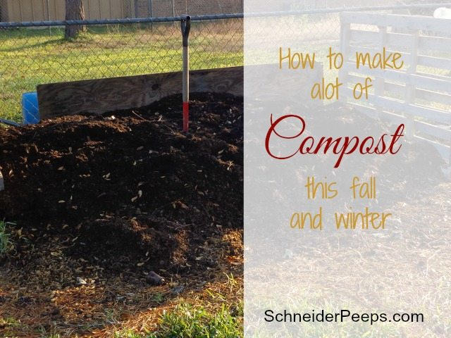 SchneiderPeeps - How to make a lot of compost with just a couple of easily found items.