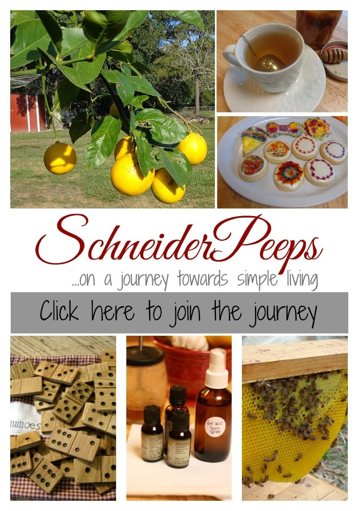 SchneiderPeeps - join the journey to simple living. Learn about organic gardening, cooking from scratch, crafting and more.