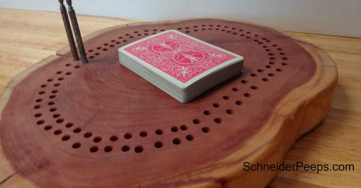 Using reclaimed wood to make a meaningful and frugal cribbage board gift.