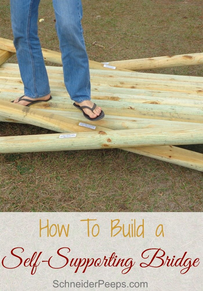 This self supporting bridge is great to use for Boy Scout crossovers or Eagle Scout Court of Honor celebrations. With 12 planks, each one represents a point of the Scout Law.