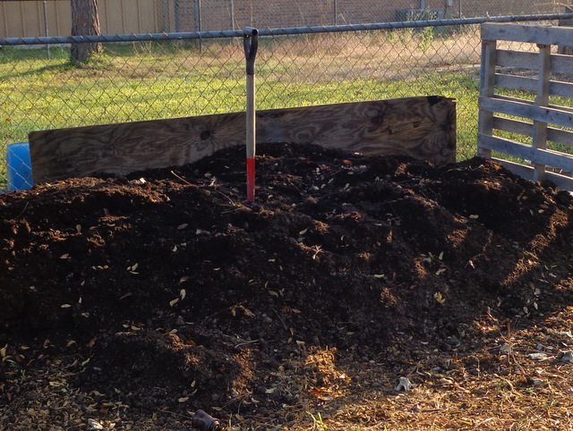 image of compost for healthy garden soil