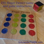 DIY Finger Twister game