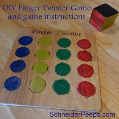 photograph relating to Finger Twister Printable identify Finger Twisterwith sport guidance SchneiderPeeps