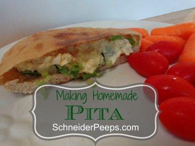 SchneiderPeeps Making Homemade Pita Bread