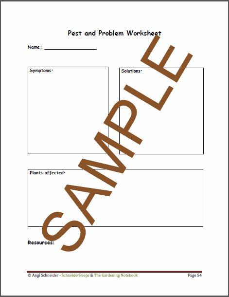 SchneiderPeeps - Sample of The Gardening Notebook