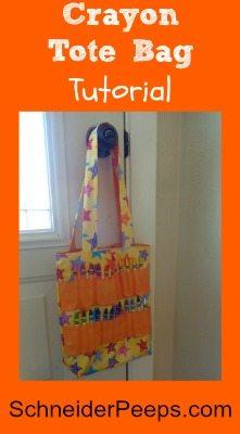 SchneiderPeeps - Crayon Tote Bag Tutorial