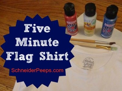 SchneiderPeeps - How to make a five minute flag shirt