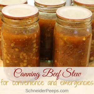 Home canned beef stew is a wonderful way to prepare for emergencies - big or small. Your family is sure to love this recipe for canning beef stew in a pressure canner.