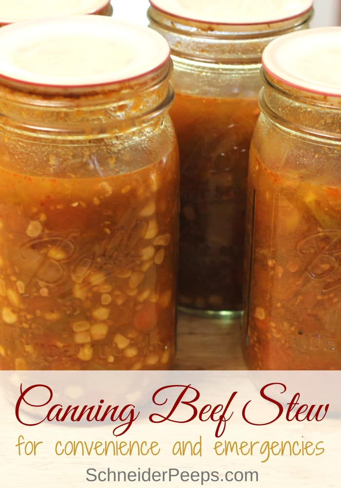 image of home canned beef stew in jars