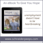 Today is the day!  Hope – Thriving While Unemployed {and a giveaway}