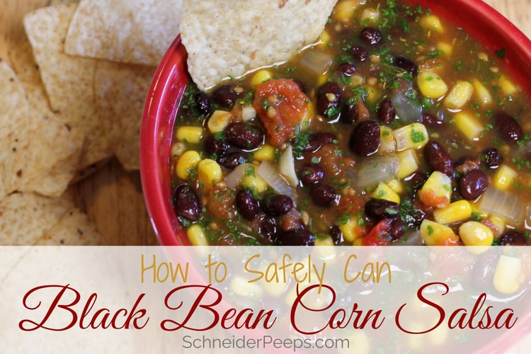 image of bowl of black bean and corn salsa with chips
