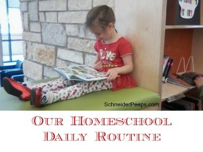 SchneiderPeeps - Our homeschool daily routine