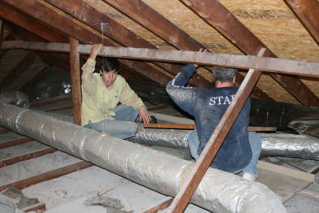 installing attic foil